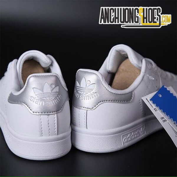 Giày Adidas Stanmith SF Bạc