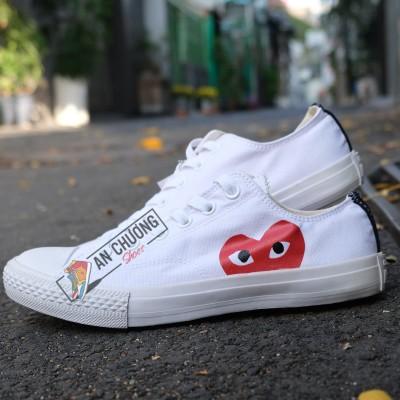 Giày Converse Play Heart Trắng Giá Rẻ