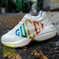 Giày Gucci Rhyton Leather Logo color REP 1:1
