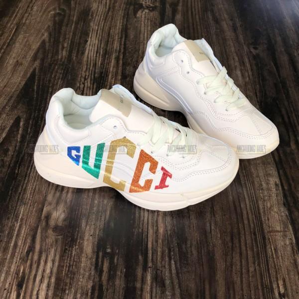 Giày Sneakers Gucci Rhyton Logo 7 Màu