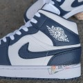 Giày Nike Air Jordan 1 High Navy White