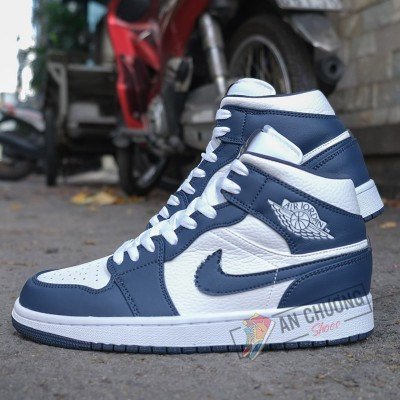 Giày Nike Air Jordan 1 High Navy White
