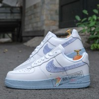 Giày Nike Air Force 1 Low Hydrogen Blue Denim