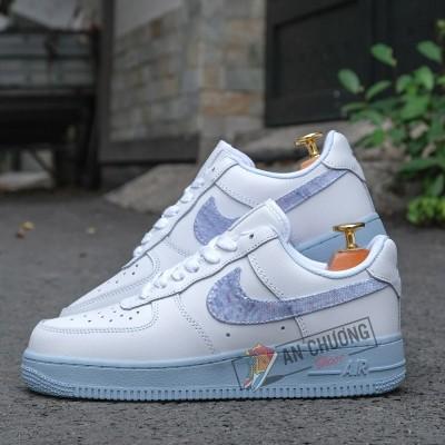 Giày Nike Air Force 1 Low Hydrogen Blue Denim