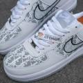 Giày Nike Air Force 1 Low White x Dior Đế Xám
