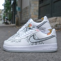 Giày Nike Air Force 1 Low White x Dior Đế Xám