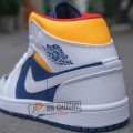 Giày Nike Air Jordan 1 High Yellow Navy (Rep)