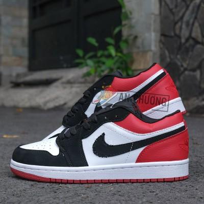 Giày Nike Air Jordan 1 Low Black Toe (Rep)