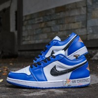 Giày Nike Air Jordan 1 Low Hyper Royal Orange Peel