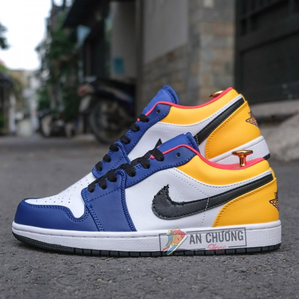 Giày Nike Air Jordan 1 Low Royal Yellow (Rep)