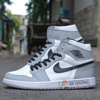 Giày Nike Air Jordan 1 Mid Light Smoke Grey