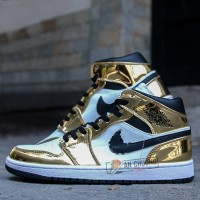 GIÀY NIKE AIR JORDAN 1 MID SE METALLIC GOLD