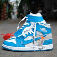 Giày Nike Air Jordan 1 Retro High X Off-White UNC