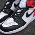 Giày Nike Air Jordan 1 Retro High Og Black Toe (Rep)