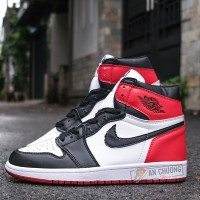 Giày Nike Air Jordan 1 Retro High Og Black Toe (Rep)