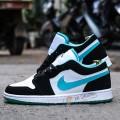 Giày Nike Air Jordan 1 Low White Black Island Green