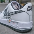Giày Nike Air Force 1 Low White x Dior Đế Đen
