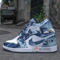 Giày Nike Jordan 1 Low Washed Denim
