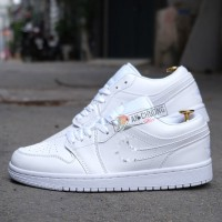 Giày Nike Air Jordan 1 Low Triple White (Rep)
