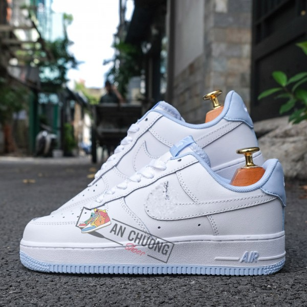 Giày Nike Air Force 1 Low White Hydrogen Blue
