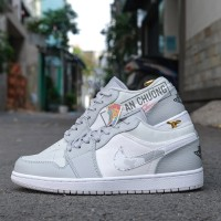 Giày Nike Jordan 1 Low Grey Camo (Rep)