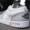 Giày Nike Jordan 1 Low Grey Camo (Rep)