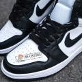 Giày Nike Jordan 1 High Black White (Rep)