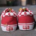 Giày Vans Old Skool Caro Đỏ