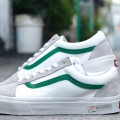 Giày Vans Style 36 Marshmallow Sọc Xanh Lá
