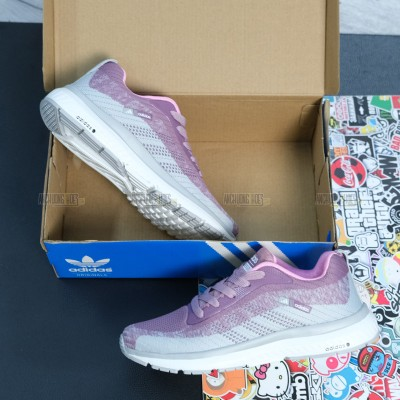 Giày Adidas CloudFoam Xám Hồng