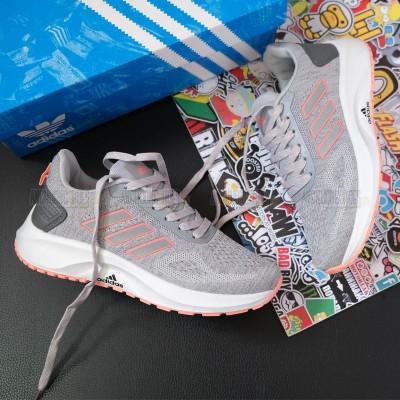Giày Adidas 3 Sọc Xám Hồng