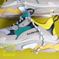 Giày Balenciaga Triple S Rep Xanh Vàng