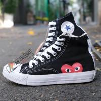 Giày Converse Play Heart Đen Cao Giá Rẻ