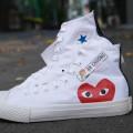 Giày Converse Play Heart Trắng Cao Giá Rẻ