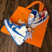 Giày Off White X Nike Air Jordan Xanh