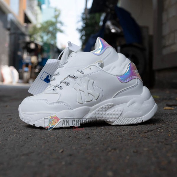 Giày Sneaker MLB Big Ball Chunky Shiny New York AllWhite