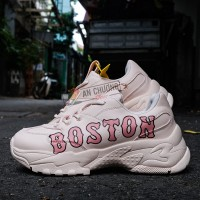 Giày Sneaker MLB Big Ball Chunky P Boston Red Sox Pink