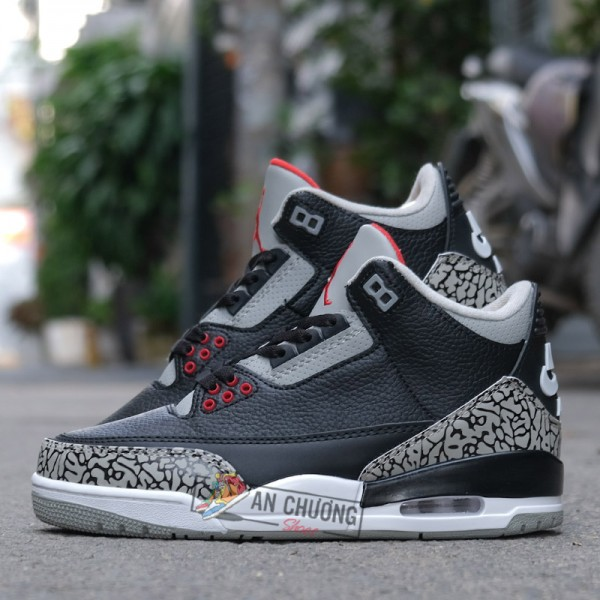 Giày Nike Air Jordan 3 Black Cement