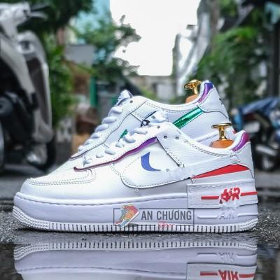 Giày Nike Air Force 1 Shadow Metalilc Swoosh
