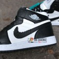 GIÀY NIKE AIR JORDAN 1 MID BLACK WHITE