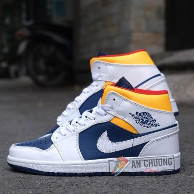 Giày Nike Air Jordan 1 High Yellow Navy (Rep)