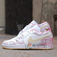 Giày Nike Air Jordan 1 Low GS Strawberry Ice Cream