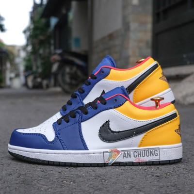 Giày Nike Air Jordan 1 Low Royal Yellow (Rep)