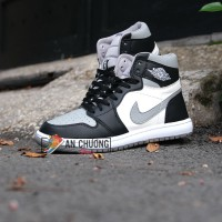 GIÀY NIKE AIR JORDAN 1 MID BLACK GREY