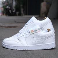 Giày Nike Air Jordan 1 Low Triple White (Rep)