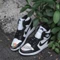 Giày Nike Jordan 1 High Black White (Rep)